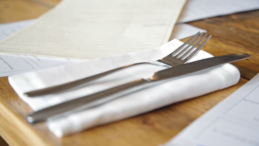 Knife And Fork On Wood Stock Footage Video 100 Royalty Free 9415334 Shutterstock