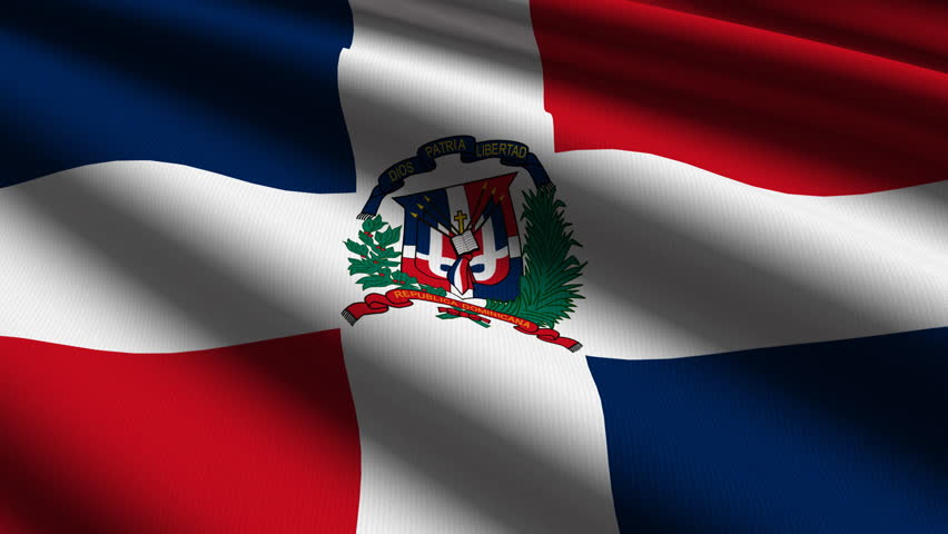 dominican republic close up waving flag - hd loop stock footage