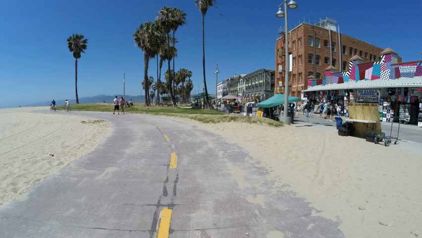 Venice California April 2 2015 Moving Editorial Time Lapse On