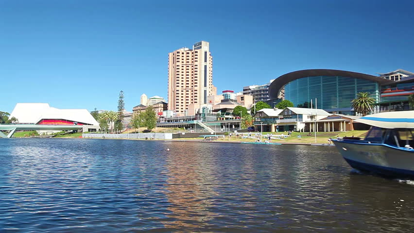 Adelaide, Australia - February 25, 2015: View of Riverbank Precinct in Adelaide,