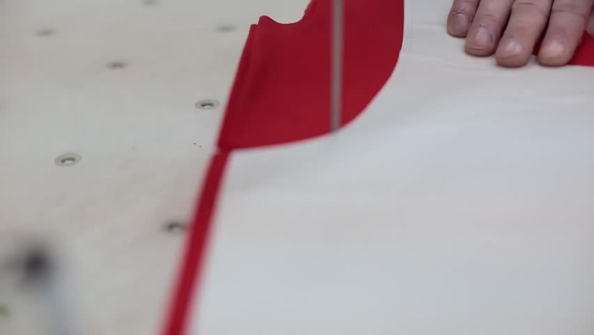 Sewing factory. Cutting. | Shutterstock HD Video #9506876