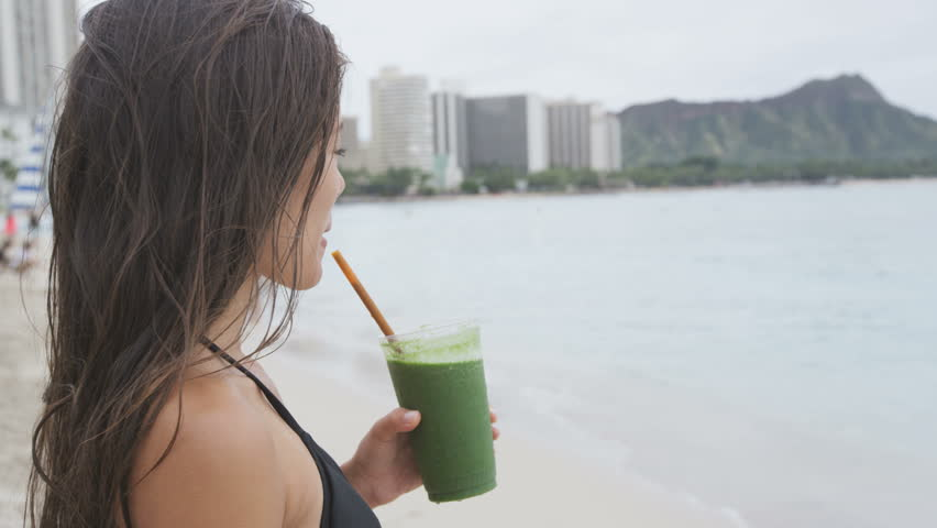 Vegetable Green Detox Cleanse Smoothie Stock Footage Video (100%  Royalty-free) 9513224 | Shutterstock