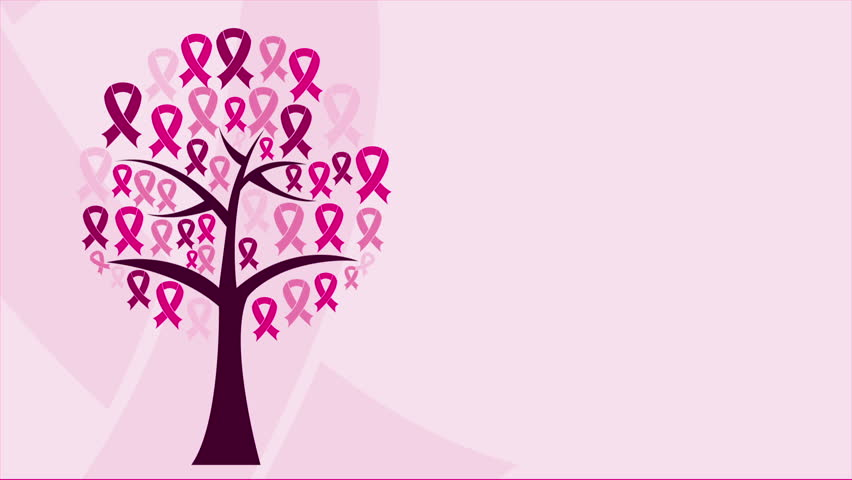 Tree with pink ribbon icons, Video animation, HD 1080