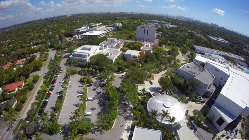 Aerial video University of Miami Florida 4k