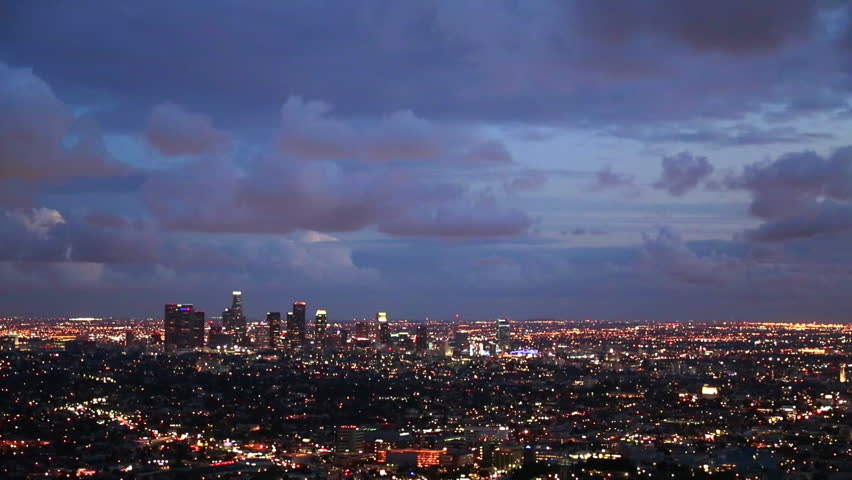 Dramatic Clouds over Los Angeles, High Definition Video taken from the Griffith Park Observatory after a Storm. | Shutterstock HD Video #9526934