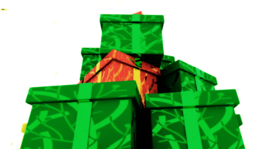 3D rendering of colorful presents in an isolate shot.