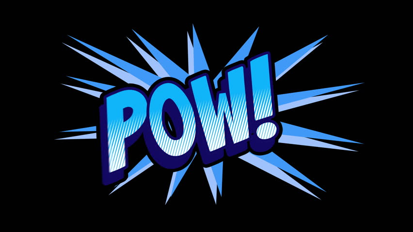 POW Comic expresion with matte