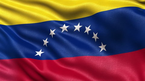 Realistic Ultra-HD flag of Venezuela waving in the wind. Seamless loop with highly detailed fabric texture. Loop ready in 4K resolution.