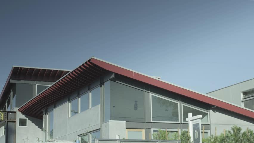 Exterior shot of a modern house in Venice Beach, California. | Shutterstock HD Video #9663044