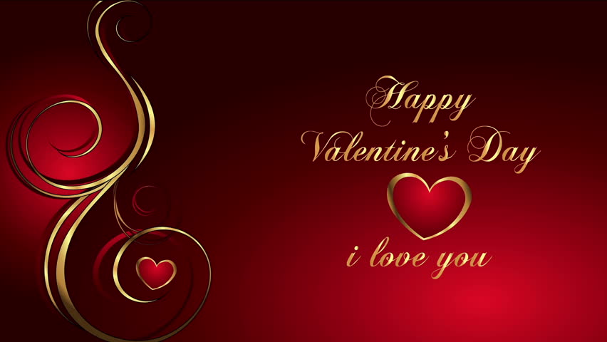 Valentines Day Animated Background Stock Footage Video 100