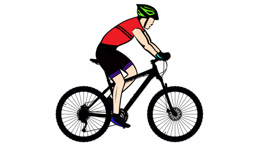 f4abfb38083 Mountain Bike Riding Alpha Channel Stock Footage Video (100 ...