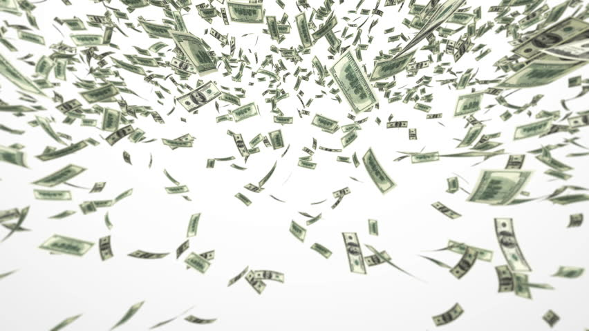 One hundred dollar bills falling through air. Loop | Shutterstock HD Video #968731