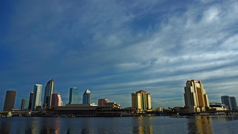 Time Lapse skyline of downtown Tampa Florida