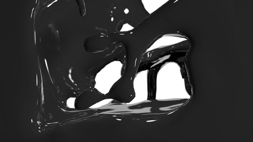 Paint fills up screen.  fluid flows down . Pouring  screen. liquid fills screen | Shutterstock HD Video #9756524