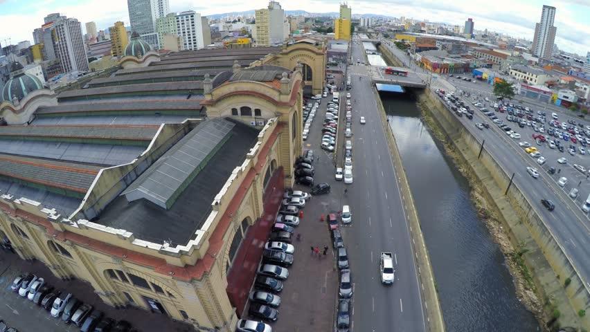 Aerial View from Mercado Municipal in Sao Paulo, Brazil   Shutterstock HD Video #9767444