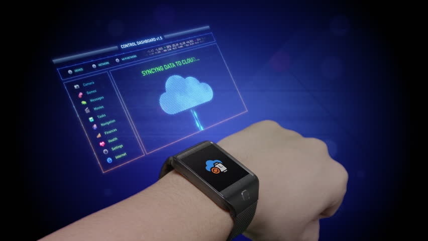 Futuristic smart watch technology | Shutterstock HD Video #9770810