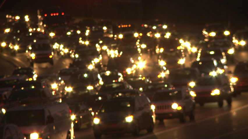 Static medium shot of traffic at night in Atlanta Georgia. Headlights can be & Static Shot Of Traffic On The Freeway While The Sun Barely Lights ... azcodes.com