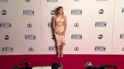 Los Angeles, CA - November 23,2014: Jennifer Lopez at American Music Awards 2014, Nokia Theatre