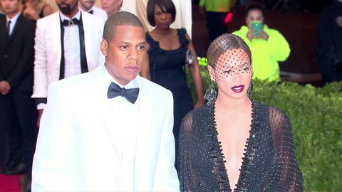 New York, NY - May 05,2014: Beyonce Knowles and Jay Z at The Costume Institute Gala 2014, The Metropolitan Museum of Art