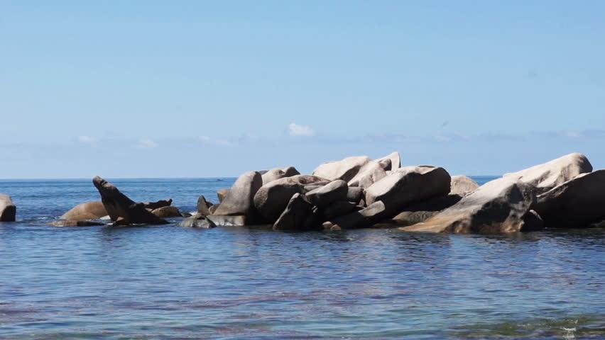waves and granite rocks #9828344