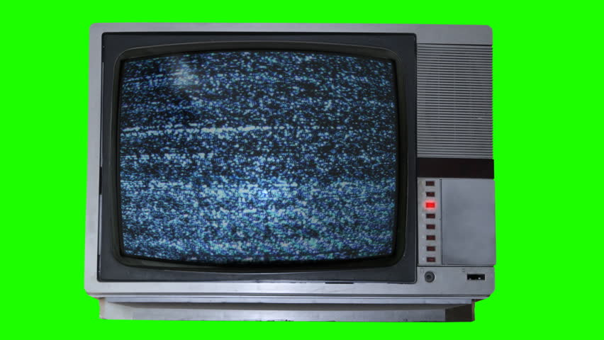 Loop Chroma key Static NOISE in the Bad TV box set on the green screen | Shutterstock HD Video #989074