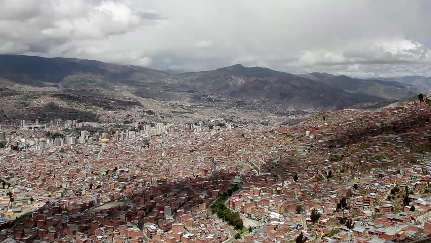 La Paz, Bolivia - city town urban aerial view
