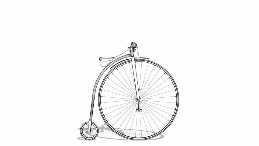 Penny-Farthing Bicycle Animation