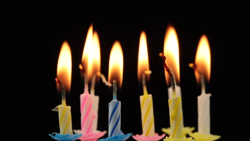 Birthday Candles And Blowing Stock Footage Video 9921404 Shutterstock