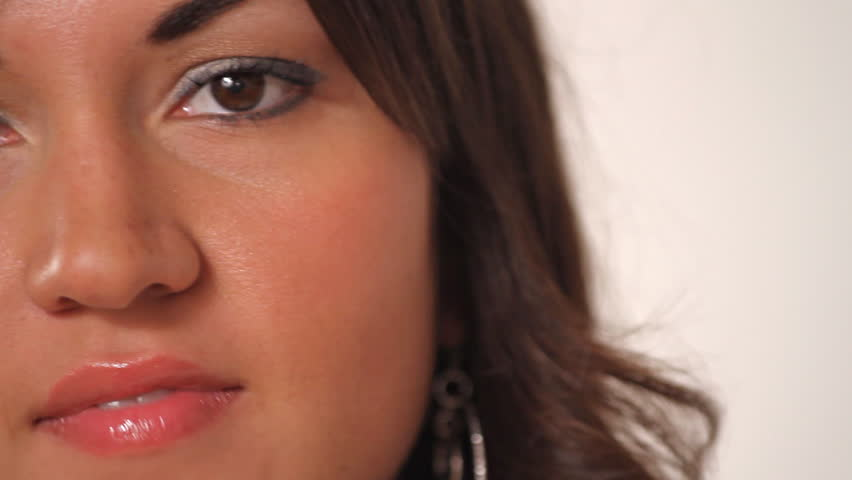 Close up portrait of pretty latina woman