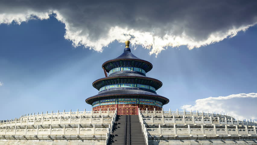 The Qinian Hall. Located in The Temple of Heaven, Beijing, China.