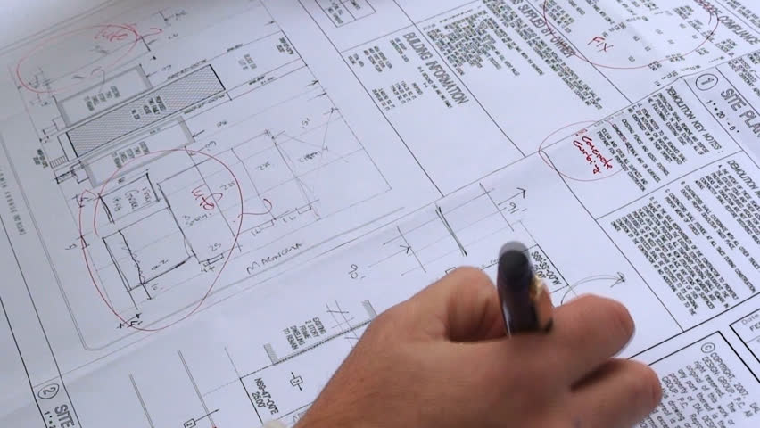 Architect on Blueprint  | Shutterstock HD Video #9989234